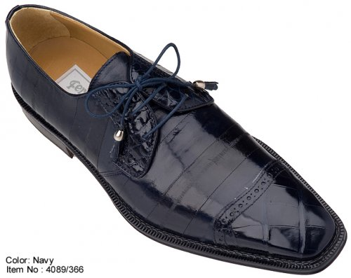 Ferrini 4089 Navy Genuine Alligator/Eel Shoes