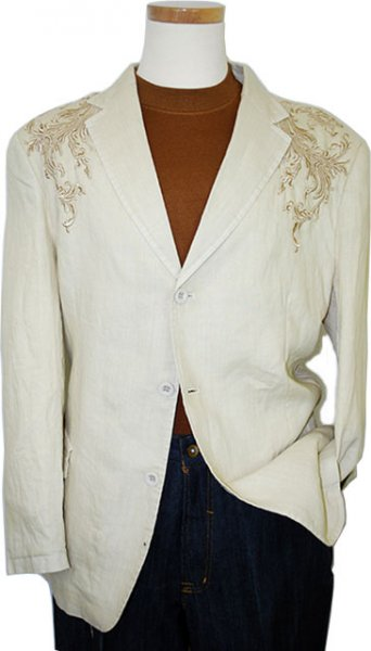 Successo Tan With Cognac Embroidery Blazer B3307