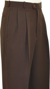 Pronti Chocolate Brown Wide Leg Slacks P771