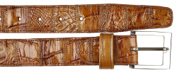 Belvedere 1999 Patchwork Honey Genuine Crocodile Belt.