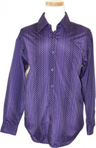 Cielo Violet With Black Velvet Polka Dots Shirt
