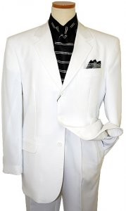 Gianni Vironi Solid White Super 100's 100% Fine Polyester Suit 2005