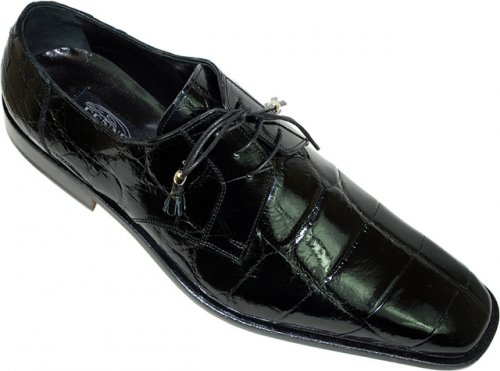 Fennix Italy 3101 Black Genuine All-Over Alligator Shoes
