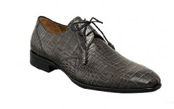 "Mezlan ""Gastone"" Grey Genuine All-Over Alligator Shoes With Matched Tassels"