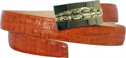G-Gator Cognac Genuine Crocodile Belt