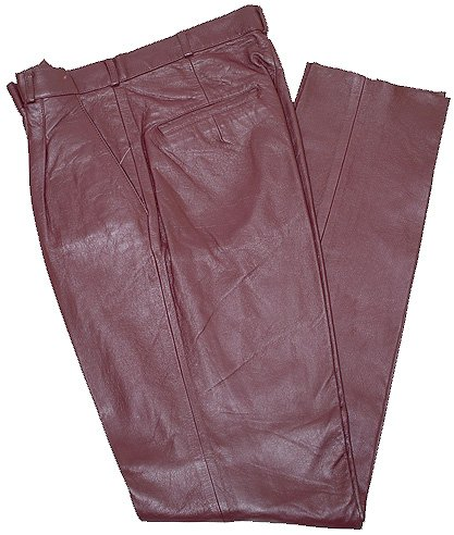 Mark Andre Burgundy Genuine Lambskin Leather Pants TR-705