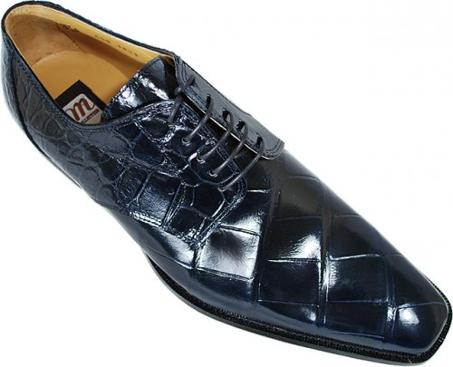 Mauri M508 Navy Genuine All-Over Alligator Shoes.