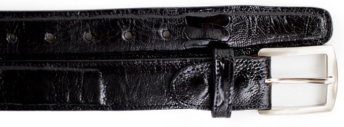 Belvedere 2000 Black Genuine Ostrich Leg Belt.