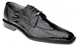 "Belvedere ""Siena"" Black All-Over Genuine Ostrich Shoes 1463."