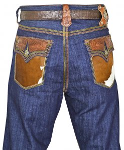 G-Gator Genuine Hornback Alligator / Pony Jeans P25