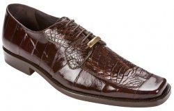 "Belvedere ""Dante 1210"" Brown Genuine Eel / Caiman Shoes"