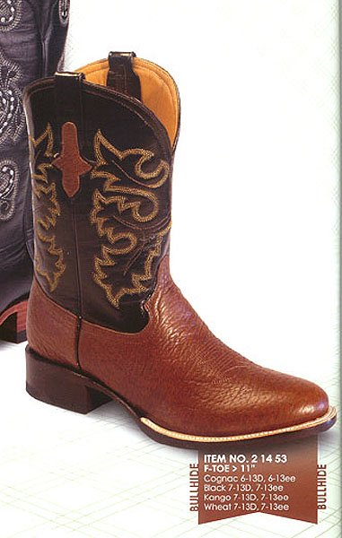 Ferrini Genuine Bullhide Exotic Boots 21453