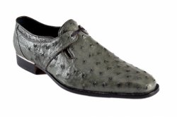 Mauri 4883 Light Green Genuine Ostrich Single Eyelet Dress Shoes.