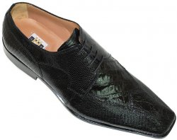 "David Eden ""Buckeye"" Black Genuine Crocodile/Lizard Shoes"