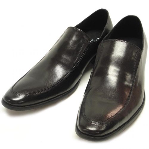 Encore By Fiesso Black Genuine Leather Loafer Shoes FI6521