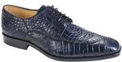 "Belvedere ""Monte 8011"" Navy Genuine Alligator Shoes"