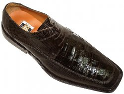 "David Eden ""Ford"" Brown Genuine Crocodile Belly/Lizard Shoes"