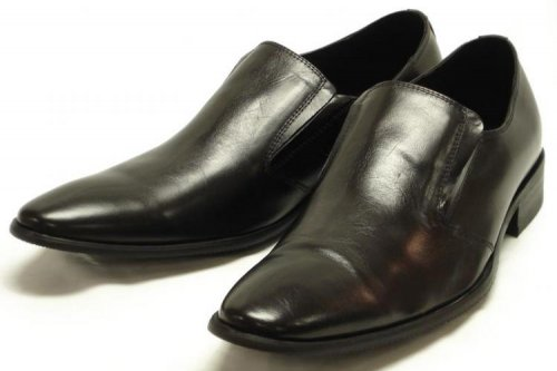 Encore By Fiesso Black Genuine Leather Loafer Shoes FI6520