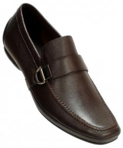 Encore By Fiesso Brown Genuine Leather Loafer Shoes FI3001