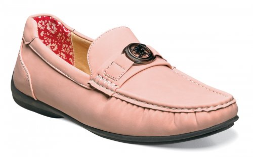 "Stacy Adams ""Cyrus"" Rose Pink Leather Lined Bit Strap Driving Loafers 25173-665"