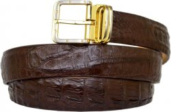 G-Gator Dark Brown Genuine Crocodile Belt With G-Gator Buckle