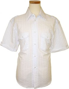 Pronti White Cotton Blend Shirt S1581