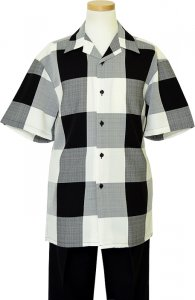 Montique Black/Cream/Grey Checkerboard 2 Piece Outfit 541