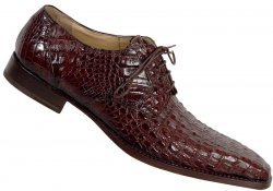 Mauri 4362 Sport Rust All-Over Genuine Hornback Crocodile Shoes