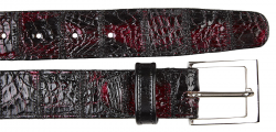 Belvedere 1999 Patchwork Black Cherry Genuine Crocodile Belt.