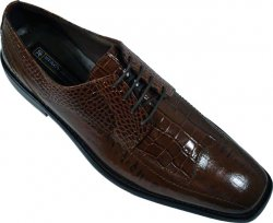 "Stacy Adams ""Tarviso"" Tobacco Alligator / Eel Print Shoes 24674"