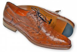 Mezlan Brandy All-Over Genuine Ostrich Quill Derby Shoes 4531-S