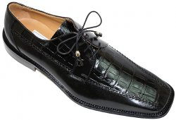 Ferrini 3746 Black Genuine Alligator Shoes