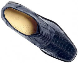 "Belvedere ""Marco"" Navy All-Over Genuine Ostrich Shoes 714."