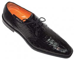 "Mezlan ""McVie"" M537 Black Genuine All-Over Alligator Shoes"