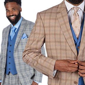 STEVE HARVEY COLLECTION! Vested Classic Fit Suits - Only $149.90