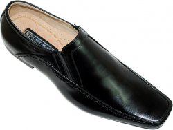 "Stacy Adams ""Keegan"" Black Genuine Leather Shoes"