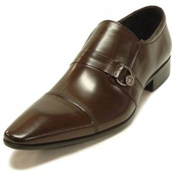 Encore By Fiesso Brown Genuine Calf Leather Loafer Shoes FI3064