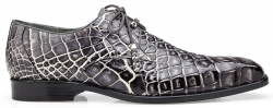 "Belvedere ""Alfred"" Black Rust Genuine All Over Alligator Hand Painted Lace-up Shoes R08."