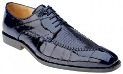 "Belvedere ""Luigi"" Navy Genuine Lizard / Eel Shoes"