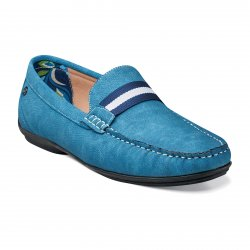 "Stacy Adams ""Pepi"" Blue Suede Moc Toe Loafer Shoes 24942"