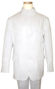 Successos 100% Linen White Suit BP3294