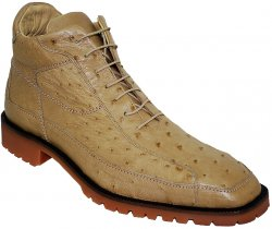 "Belvedere ""Pero"" Orix All-Over Genuine Ostrich Ankle Boots"