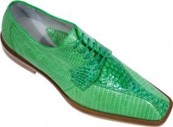 "Belvedere ""Rossi"" Lime Genuine Crocodile / Lizard Shoes"
