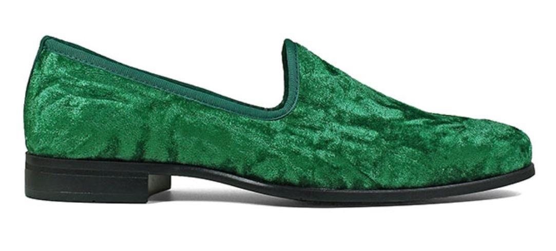6d59984978f242 Stacy Adams Sultan   Emerald Genuine Velour Slip On 25278-312 ...