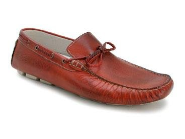 "Bacco Bucci ""YIP"" Red Genuine Supple Italian Calfskin Loafers"
