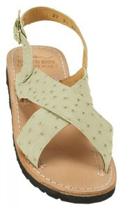 Los Altos Winter White Arena Genuine Ostrich Sandals HU10304
