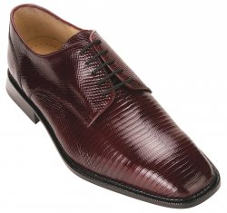"Belvedere ""Olivo"" Burgundy All-Over Genuine Lizard Shoes H14"