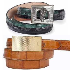 Genuine Exotic Skin Belts | Now 25% OFF