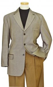 Pronti Taupe / Black/ White Diagonal Stripes Blazer B9221