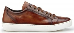 "Belvedere ""Anthony"" Almond Safari Genuine Ostrich / Soft Calf Casual Sneakers Y03."